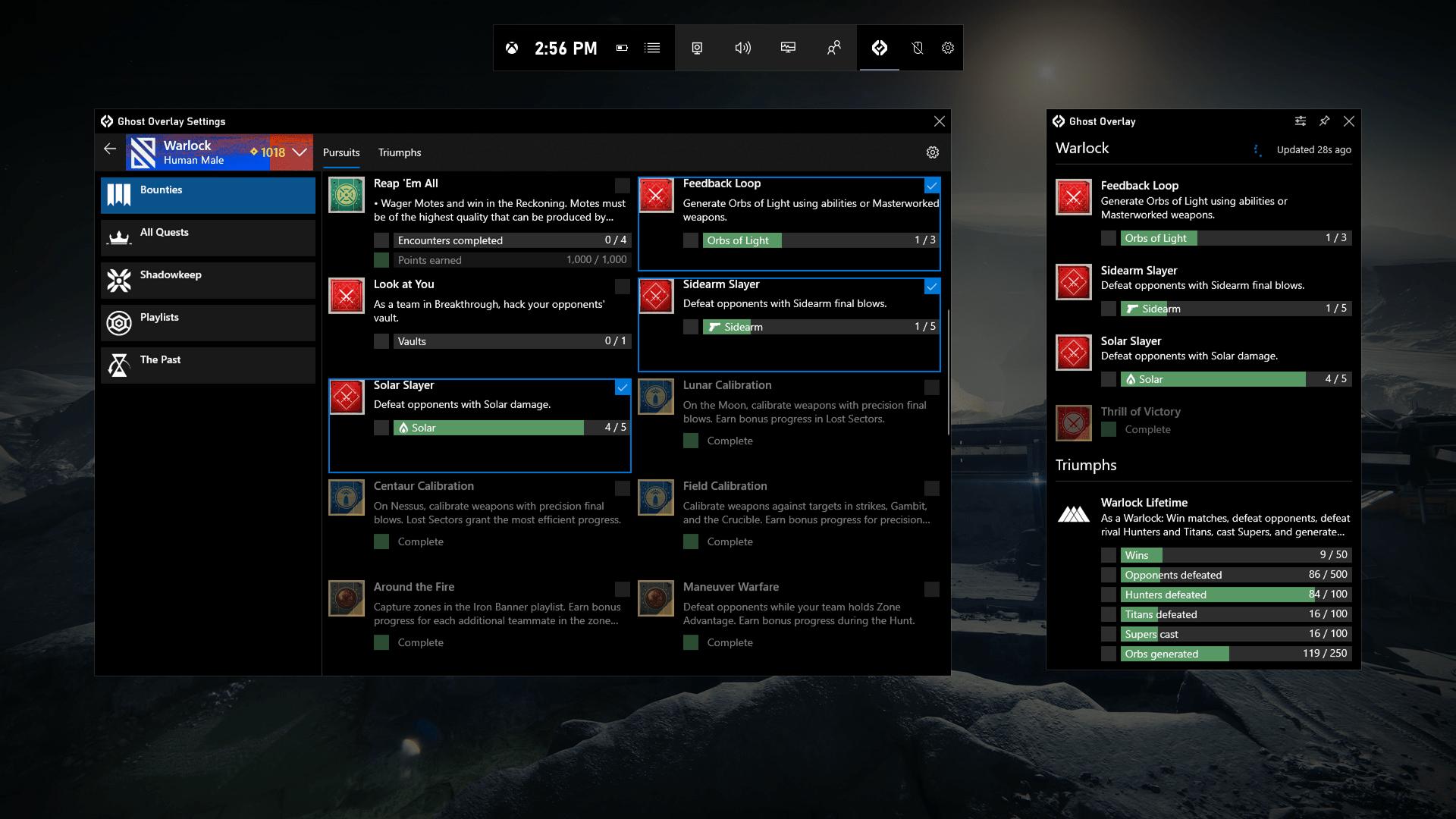 Ghost Overlay For Destiny 2